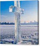 Ice Cross On The Frozen Dniepr Canvas Print