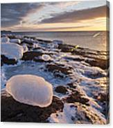 Ice Cubes And Sunrise Canvas Print