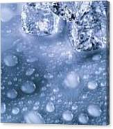 Ice Cubes With Copyspace Canvas Print