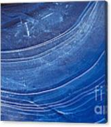 Ice Curve In Blue Canvas Print