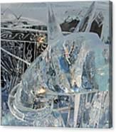 Ice Dog Canvas Print