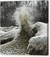 Ice Eruption Canvas Print
