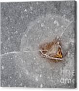 Ice Fishing Hole 10 Canvas Print