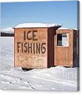 Ice Fishing Hut Canvas Print