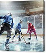Ice Hockey Players In Action Canvas Print