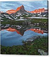 Ice Lakes Alpenglow Canvas Print