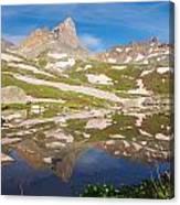Ice Lakes Reflection Canvas Print