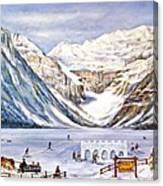 Ice Magic-lake Louise Winter Festival Canvas Print