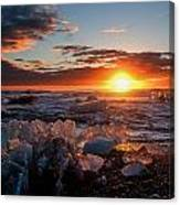 Ice On Fire Canvas Print