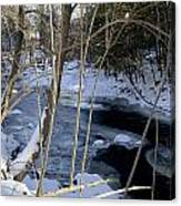 Ice On The Creek Canvas Print