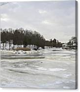 Ice On The Ipswich River Canvas Print