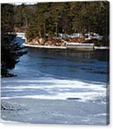 Ice On The St. Lawrence Canvas Print