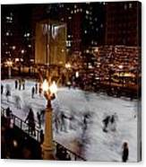 Ice Rink In Chicago  Canvas Print