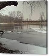 Ice River Canvas Print