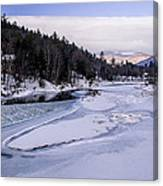 Ice River Canvas Print