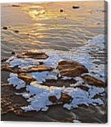 Ice Rocks Canvas Print