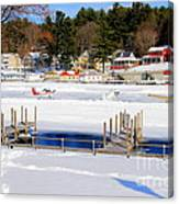Planes On The Ice Runway In New Hampshire Canvas Print