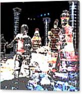 Ice Sculptured Nativity Scene Posterized Canvas Print