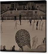 Ice Skating At Rockefeller Center In The Early Days Canvas Print