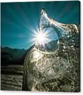 Ice With Sunburst Canvas Print