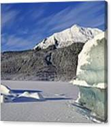 Iceberg And Mount Mcginnis Canvas Print