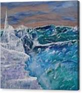 Iceberg Awaits The Titanic Canvas Print