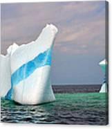 Iceberg Off The Coast Of Newfoundland Canvas Print