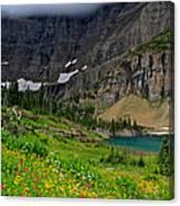 Iceberg Park Tarn Glacier National Park Montana Canvas Print