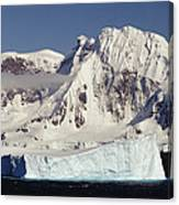 Icebergs Northern Tip Of The Antarctic Canvas Print