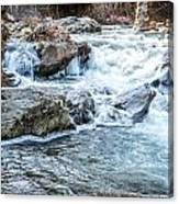 Iced Creek Canvas Print