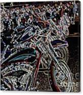 Iced Out Bikes Canvas Print