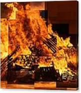 Iceland Bonfire Canvas Print