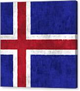 Iceland Flag Canvas Print
