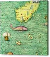Iceland, From An Atlas Of The World In 33 Maps, Venice, 1st September 1553 Canvas Print