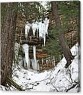 Icicle Formations In The Upper Peninsula Canvas Print