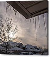 Icicles Hanging From Roof Canvas Print