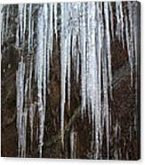 Icicles On A Cliff Canvas Print