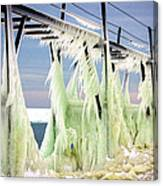 Icicles On The Catwalk Canvas Print