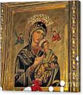 Icon In Marbella Church Canvas Print