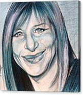 Iconic Barbra Streisand Canvas Print