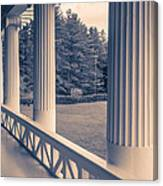 Iconic Columns On An Estate Canvas Print
