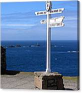 Iconic Lands End England Canvas Print