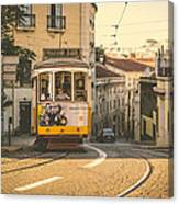 Iconic Lisbon Streetcar No. 28 Iv Canvas Print