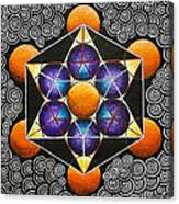Icosahedron In A Metatron's Cube Canvas Print
