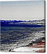 Icy Cold Seascape Digital Painting Canvas Print
