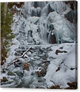 Icy Flow Of Water Canvas Print