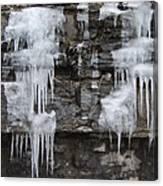 Icy Ledges Canvas Print