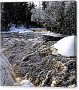 Icy Mist At Tahquamenon Canvas Print