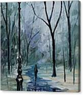 Icy Path - Palette Knife Oil Painting On Canvas By Leonid Afremov Canvas Print