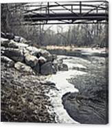 Icy River Canvas Print